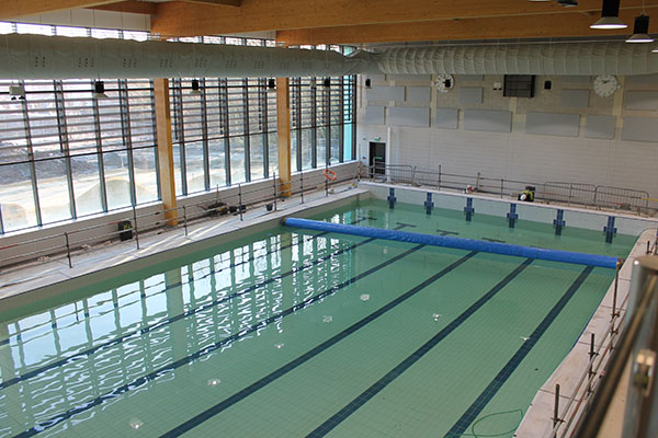 selby leisure centre opened by olympic medal winner spectile spectile